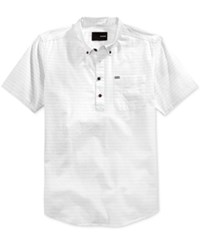 Hurley Men's Half Closure Button Down Short Sleeve Shirt