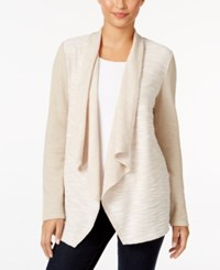 Styleandco. Style Co. Draped Knit Jacket Only At Macy's Pure Cashmere
