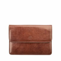 Maxwell Scott Bags The Torrino Italian Leather Travel Wallet Chestnut Tan Brown