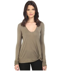 Lamade Nessie Slinky Top Musk Women's Long Sleeve Pullover Taupe