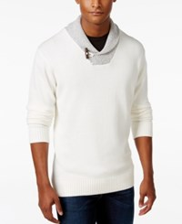Weatherproof Vintage Men's Big And Tall Pullover Sweater Ivory