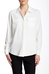 Pink Tartan Quilted Pearl Blouse White