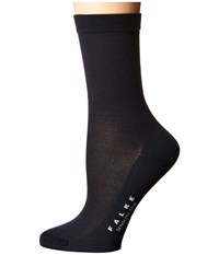 Falke Sensual Silk Ankle Dark Navy Women's Crew Cut Socks Shoes