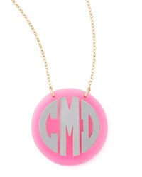 Cannes Monogrammed Acrylic Two Tone Chain Necklace Moon And Lola Crystal