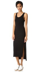 Dkny Sleeveless Dress With Side Slits Black