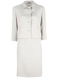 Genny By Gianni Versace Vintage Dress Suit Nude And Neutrals