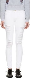 Frame Denim White Le Color Ripped Jeans
