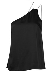 Finders Keepers More Time Black One Shoulder Satin Tank