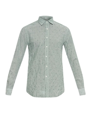 Glanshirt Kent Cotton Blend Jacquard Shirt