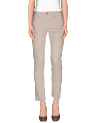 Dondup Denim Denim Trousers Women Ivory