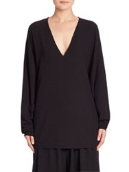 The Row Wilden V Neck Tunic Black