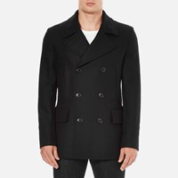 Paul Smith Ps By Men's Double Breasted Coat Navy