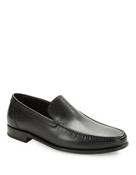A. Testoni Leather Loafers Nero