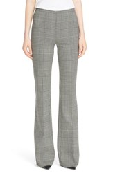 Theory Women's 'Demitria Df Portland' Glen Plaid Flare Leg Pants Black White