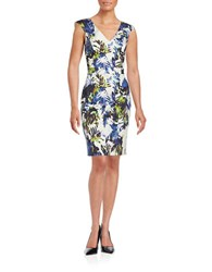 French Connection Floral Sheath Dress White Multi