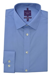 Double Two Slim Fit Formal Shirt Blue