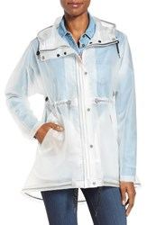 Hunter Women's 'Original Smock' Hooded Drawstring Waterproof Jacket White