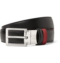 Gucci 3Cm Black And Red Reversible Leather Belt