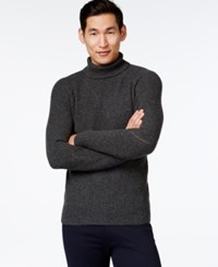 Vince Camuto Textured Turtleneck Sweater Charcoal