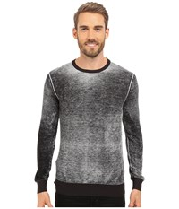 Kenneth Cole Sportswear Long Sleeve Acid Wash Crew Black Men's Sweater