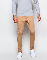 Asos Extreme Super Skinny Trousers In Soft Tan Doe