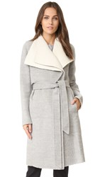 Mackage Iza Wrap Coat Grey White