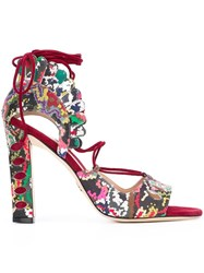 Paula Cademartori 'Lotus' Sandals Red