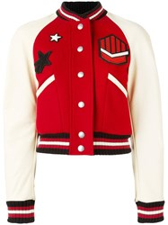 Coach Varsity Jacket Red