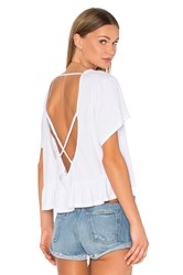 Bobi Light Weight Open Cross Back Tee White