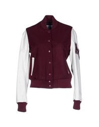American College Jackets Maroon