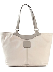 Fay Leather Handle Shopping Tote