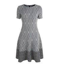 St. John Diamond Jacquard Skater Dress Female Grey