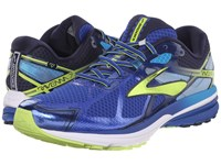 Brooks Ravenna 7 Surf The Web Lime Punch Peacoat Navy Men's Running Shoes Blue