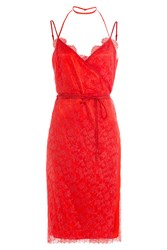 Nina Ricci Dress With Lace Red