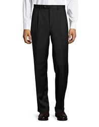 Lauren Ralph Lauren Pinstriped Wool Suit Black