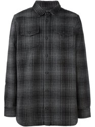 Off White Oversize Checked Shirt Black