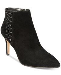 Inc International Concepts Women's Tovie Lace Up Dress Booties Only At Macy's Women's Shoes Black