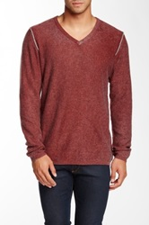 Autumn Cashmere Cashmere Inked V Neck Sweater Red