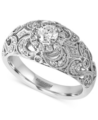 Effy Collection Effy Diamond Vintage Inspired Ring 3 4 Ct. T.W. In 14K White Gold