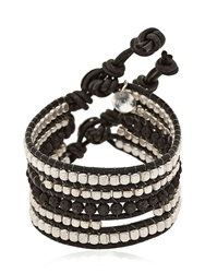 Colana Limited Edition Leather Bracelet Brown Silver