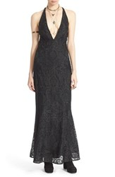 Women's Free People 'Juliet' Embroidered V Neck Maxi Dress