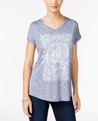 Styleandco. Style Co. Elephant Graphic T Shirt Only At Macy's Blue