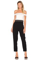 Cynthia Rowley Off The Shoulder Jumpsuit Black And White