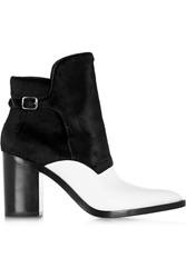 Alexander Wang Clarice Calf Hair And Leather Ankle Boots