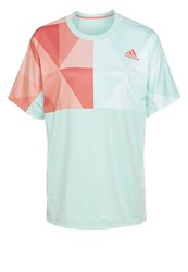 Adidas Performance Twotone Pro Print Tshirt Ice Green Flash Red Mint