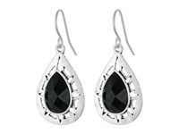 The Sak Stone Pierced Drop Earrings Black Silver Earring