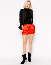 L.A.M.B. L.A.M.B Viscose And Satin Shorts Orange