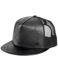 Sean John Sj Quilted Faux Leather Hat Black