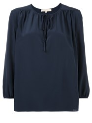Vanessa Bruno Peasant Blouse Blue