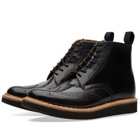 Grenson Sharp Brogue Boot Black